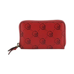 Gucci Zip Around Card Case GucciGhost Leather