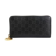 Gucci Zip Around Icon Wallet Guccissima Leather