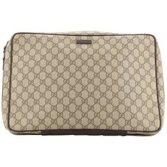 Gucci Zip Around Laptop Case GG Coated Canvas Large