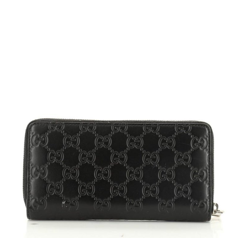 Women's or Men's Gucci Zip Around Wallet GucciGhost Embossed Leather Long For Sale