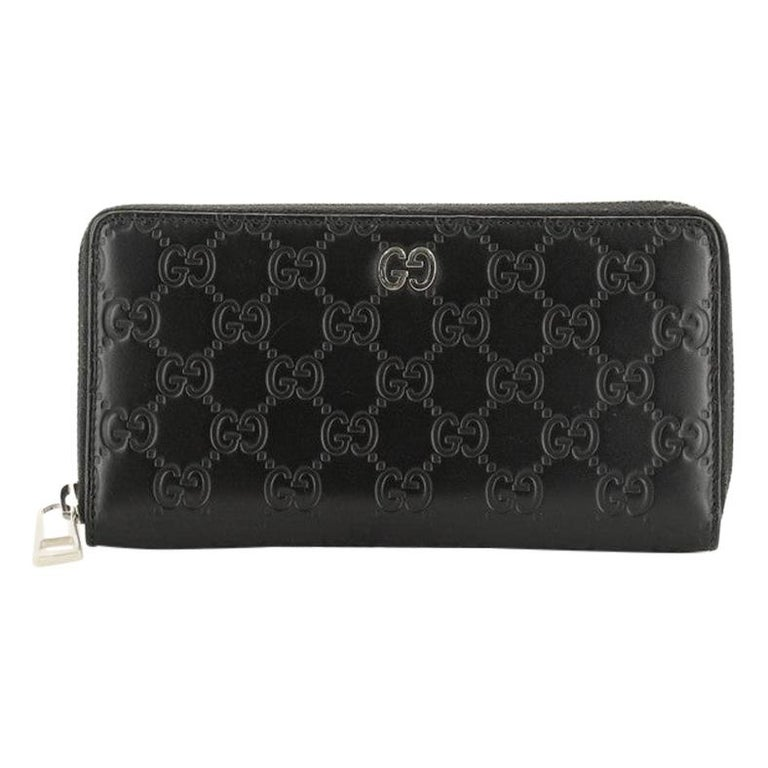 Gucci Zip Around Wallet GucciGhost Embossed Leather Long For Sale