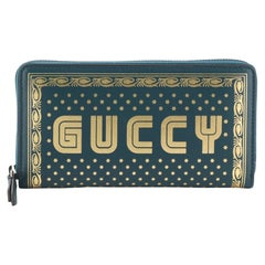 Gucci Zip Around Wallet Limited Edition Printed Leather