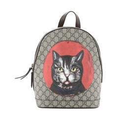 Gucci Zip Backpack Bosco Print GG Coated Canvas Small