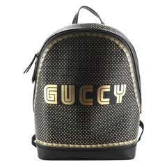 Gucci Zip Backpack Limited Edition Printed Leather Medium