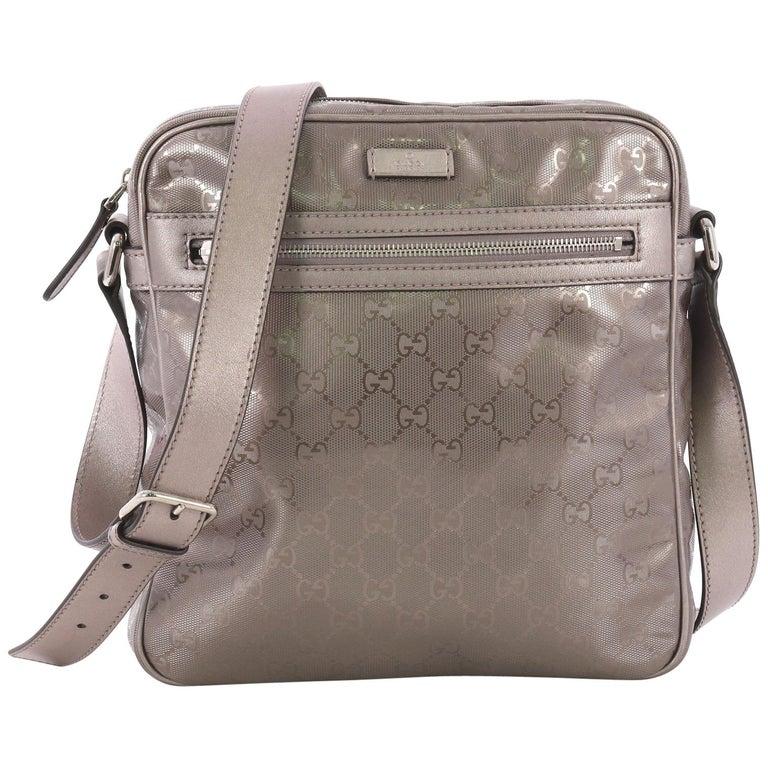a7fb19843f21 Gucci Zip Crossbody Bag GG Imprime Medium at 1stdibs