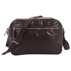 Gucci Zip Messenger Bag GG Imprime Small