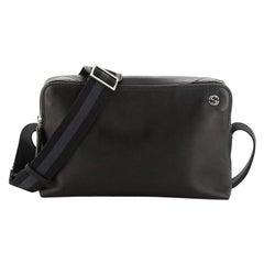 Gucci Zip Messenger Bag Leather Medium