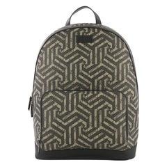 Gucci Zip Pocket Backpack Caleido Print GG Coated Canvas Medium