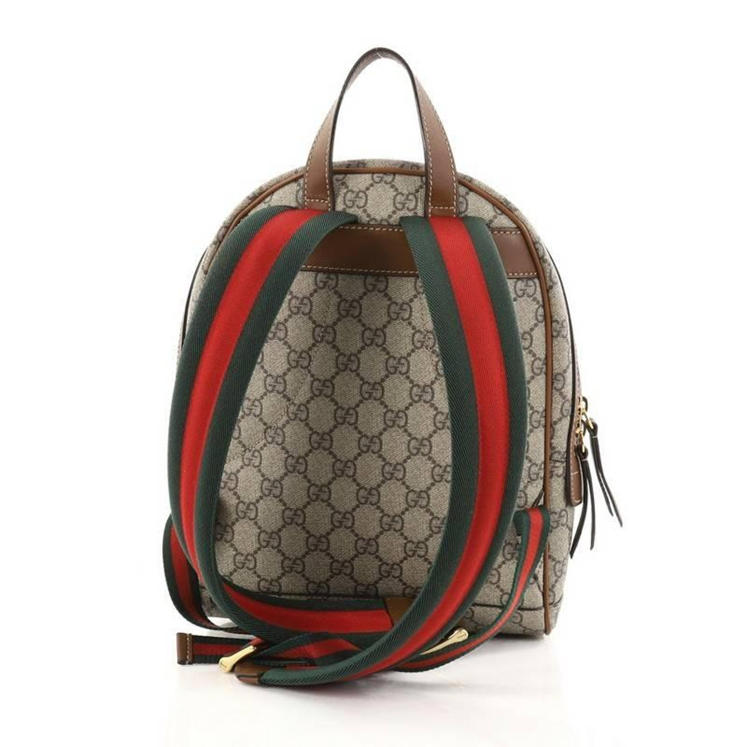 924360c6daf Gucci Zip Pocket Backpack Embroidered GG Coated Canvas Small at 1stdibs