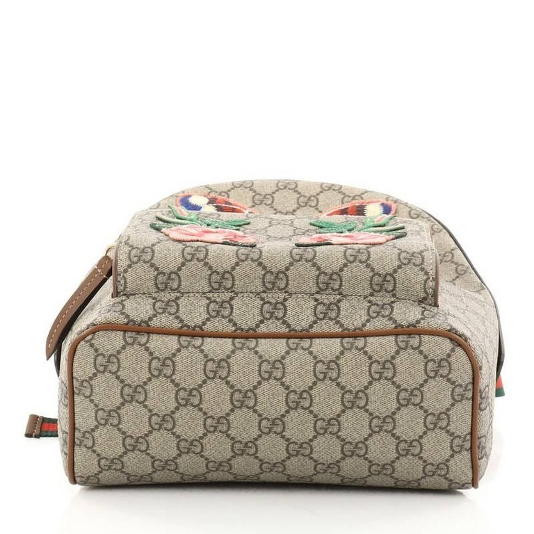 6d1a90900d8b ... Good Condition For Sale In New. Women's or Men's Gucci Zip Pocket  Backpack Embroidered GG Coated Canvas Small For Sale