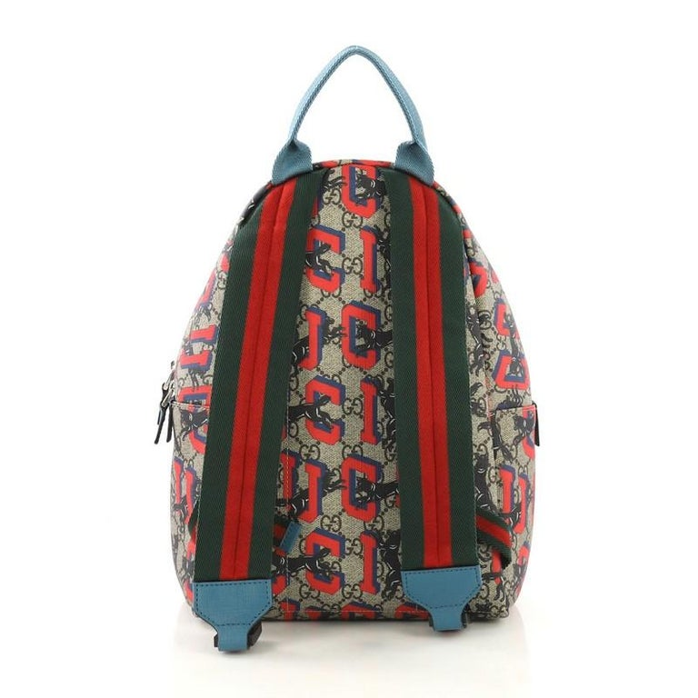 d756a95a1da5 Gucci Zip Pocket Backpack Printed GG Coated Canvas Small In Good Condition  For Sale In New