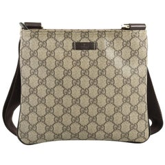 Gucci Zip Top Messenger Bag GG Coated Canvas Small