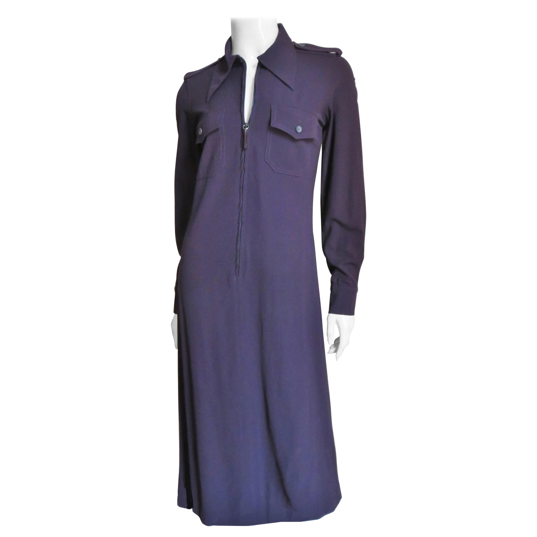 Gucci Zipper Front  Purple Shirtwaist Dress A/W 1996