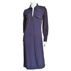 Gucci Zipper Front  Purple Shirtwaist Dress A/W 1996