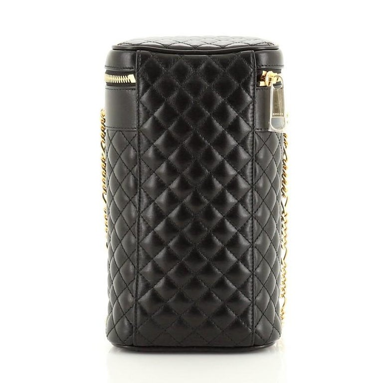 Gucci Zumi Cylindrical Belt Bag Quilted Leather In Good Condition For Sale In New York, NY