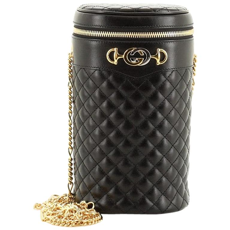 Gucci Zumi Cylindrical Belt Bag Quilted Leather For Sale