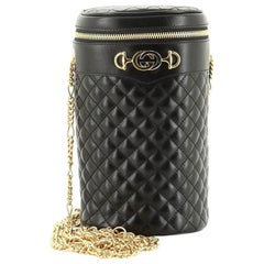 Gucci Zumi Cylindrical Belt Bag Quilted Leather