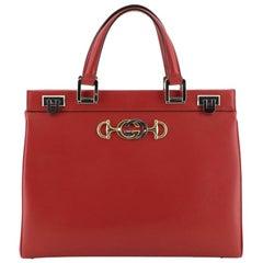 Gucci Zumi Top Handle Bag Leather Medium