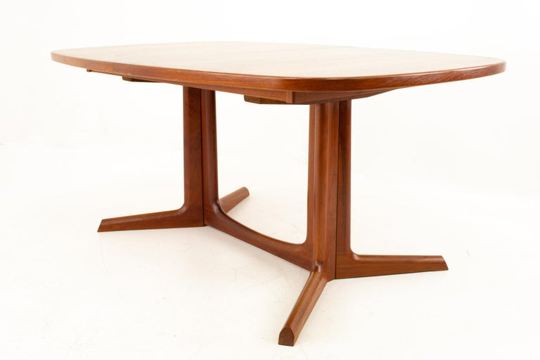 Gudme Mobelfabrik Midcentury Dining Table with 2 Leaves 3