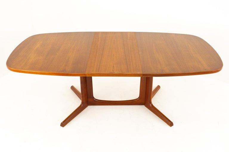 Gudme Mobelfabrik Midcentury Dining Table with 2 Leaves 4