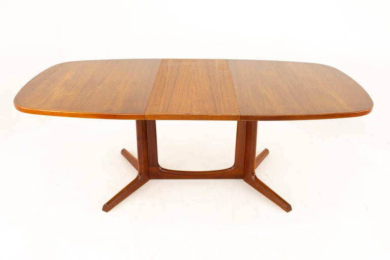 Gudme Mobelfabrik Midcentury Dining Table with 2 Leaves 5