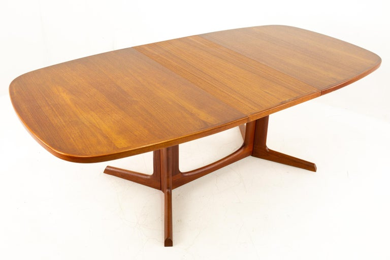Gudme Mobelfabrik Midcentury Dining Table with 2 Leaves 6