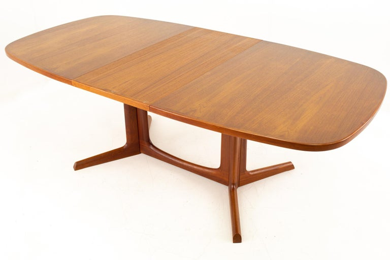Gudme Mobelfabrik Midcentury Dining Table with 2 Leaves 7