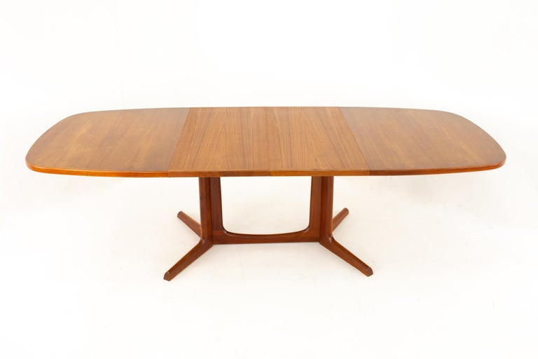 Gudme Mobelfabrik Midcentury Dining Table with 2 Leaves 8