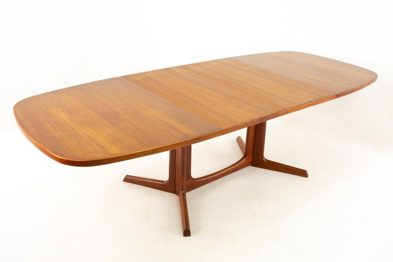 Gudme Mobelfabrik Midcentury Dining Table with 2 Leaves 9