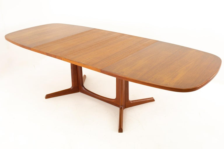 Gudme Mobelfabrik Midcentury Dining Table with 2 Leaves 10