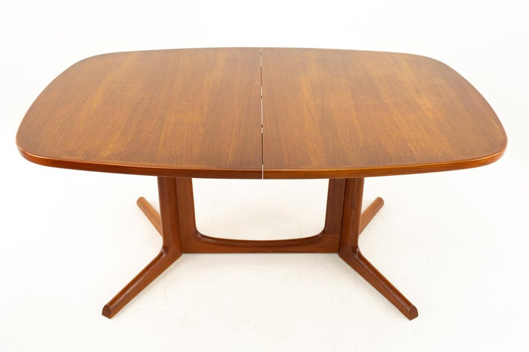Mid-Century Modern Gudme Mobelfabrik Midcentury Dining Table with 2 Leaves