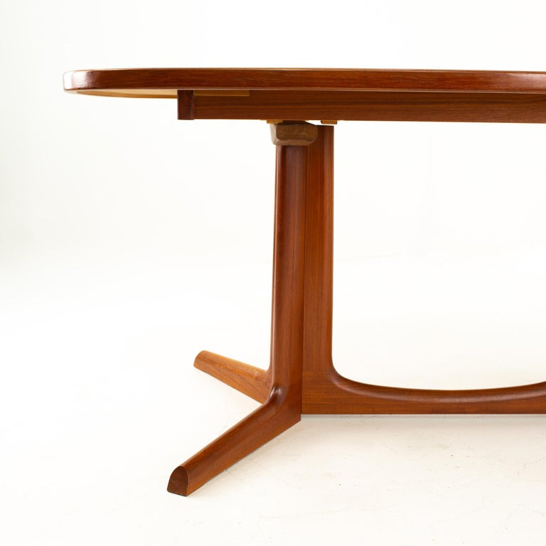 Late 20th Century Gudme Mobelfabrik Midcentury Dining Table with 2 Leaves