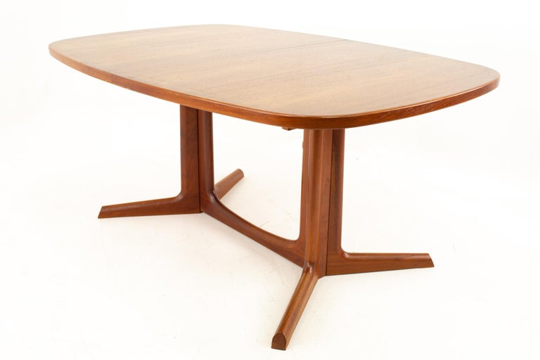 Gudme Mobelfabrik Midcentury Dining Table with 2 Leaves 2