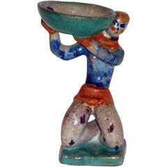Gudrun Baudisch Ceramic, 1925 for Wiener Werkstatte, Man Lifting Bowl