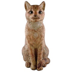 Gudrun Lauesen '1917-2002', Royal Copenhagen, Large Rare Ceramic Sculpture, Cat