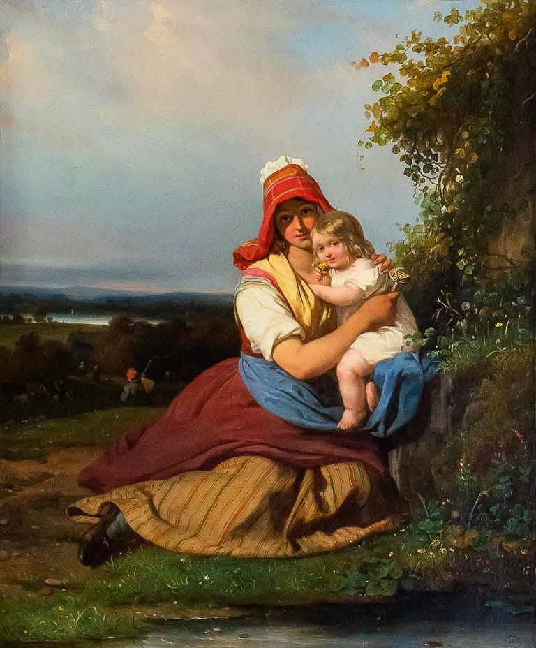 Oiled Gué Julien Michel, Oil on Canvas