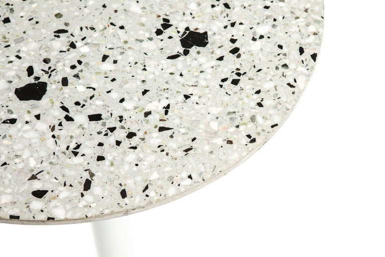 Chinese Guéridon / Bistro Table 'I' in Black Terrazzo For Sale