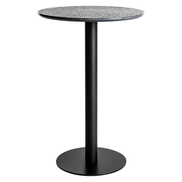 Guéridon / Bistro Table 'I' in Black Terrazzo For Sale