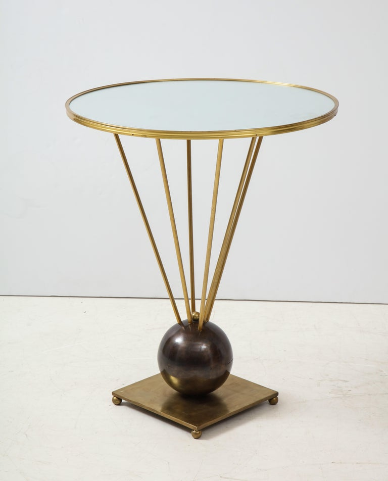 French Guéridon Side Table Attributed to John Vesey For Sale