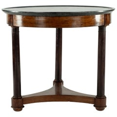 Gueridon with Black Marble Top