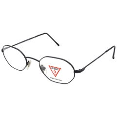 Guess hexagonal vintage eyeglasses frame ITALY