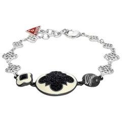 Guess Women Armband Metall Silber/Schwarz UBB81192