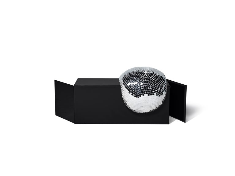 Modern DISCO GUFRAM After Party Side Table in Jet Black by Rotganzen For Sale