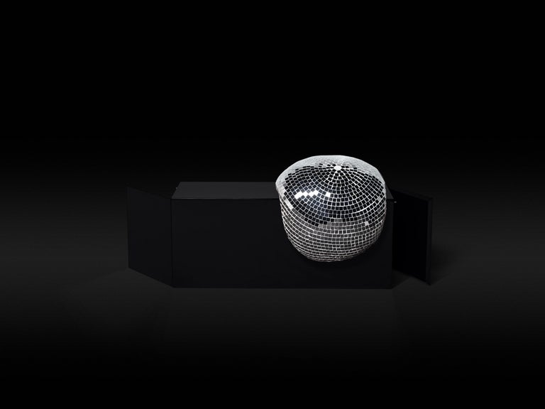 DISCO GUFRAM After Party Side Table in Jet Black by Rotganzen In New Condition For Sale In Barolo, IT