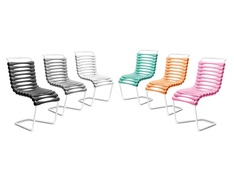 Metal Gufram Bounce Chair by Karim Rashid For Sale