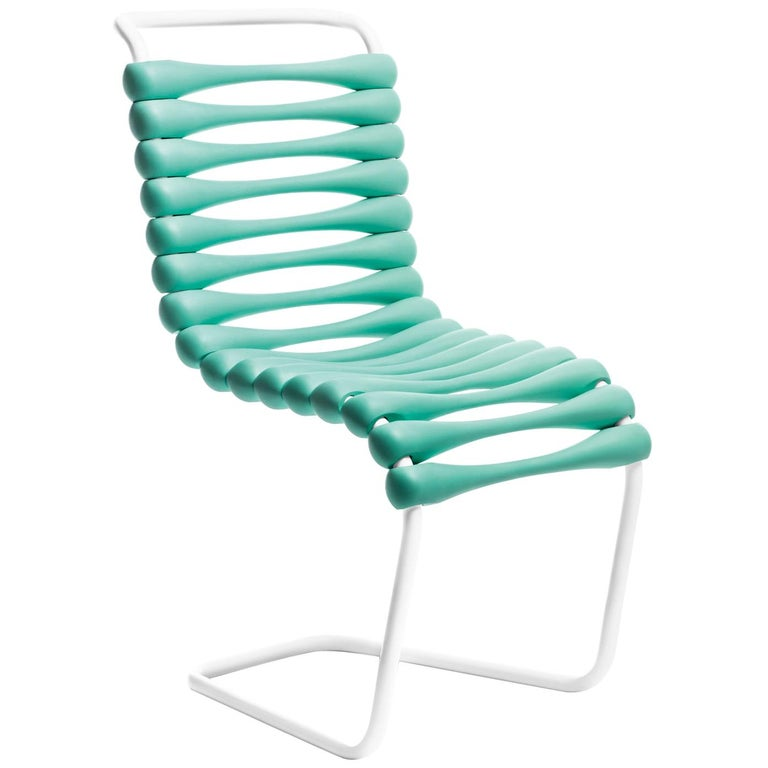 For Sale: Blue (Aquamarine) Gufram Bounce Chair by Karim Rashid