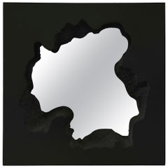 Gufram Broken Square Mirror Black by Snarkitecture, Limited Edition of 77