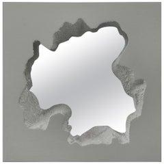 Gufram Broken Square Mirror by Snarkitecture, Grey