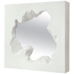 Gufram Broken Square Mirror White by Snarkitecture, Limited Edition of 77