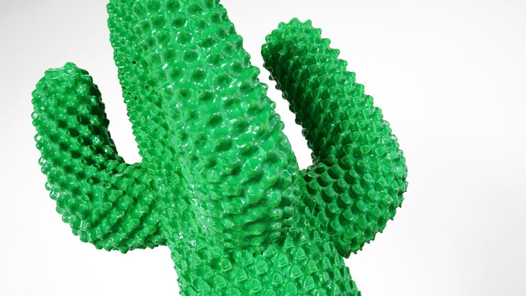 Gufram Kaktus, 1972 von Guido Drocco und Franco Mello 640/2000 Original Grün 13